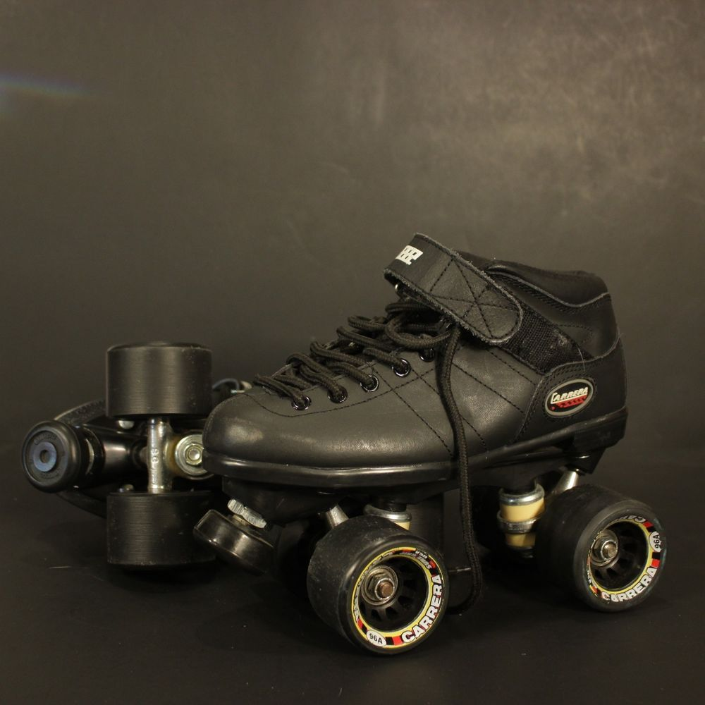 aa39c136ec7 Riedell Carrera Speed Roller Skates Black Size 5 105B Boots Style  2   Riedell