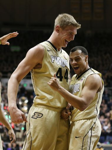 7c9e5879461 Purdue Boilermakers center Isaac Haas and Bryson Scott