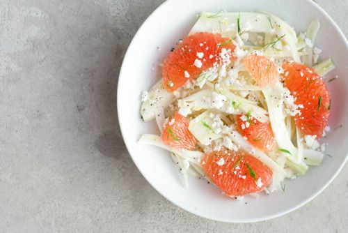 Grapefruit and fennel salad #food #healthy #salad #grapefruit