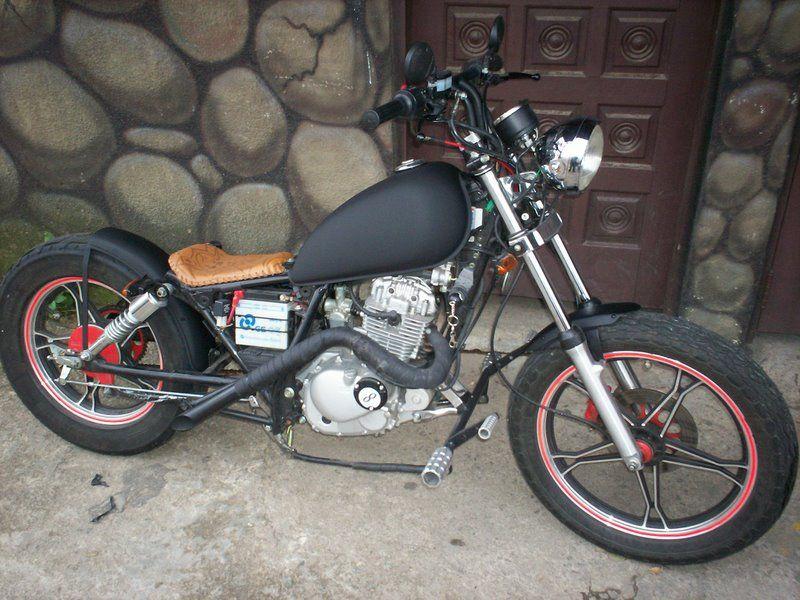moto customizada 125 pesquisa google motos pinterest bobbers choppers and cafe bike. Black Bedroom Furniture Sets. Home Design Ideas