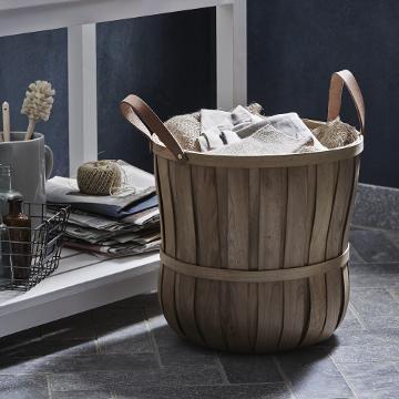 Buy John Lewis Croft Collection Chip Wood Basket   John Lewis