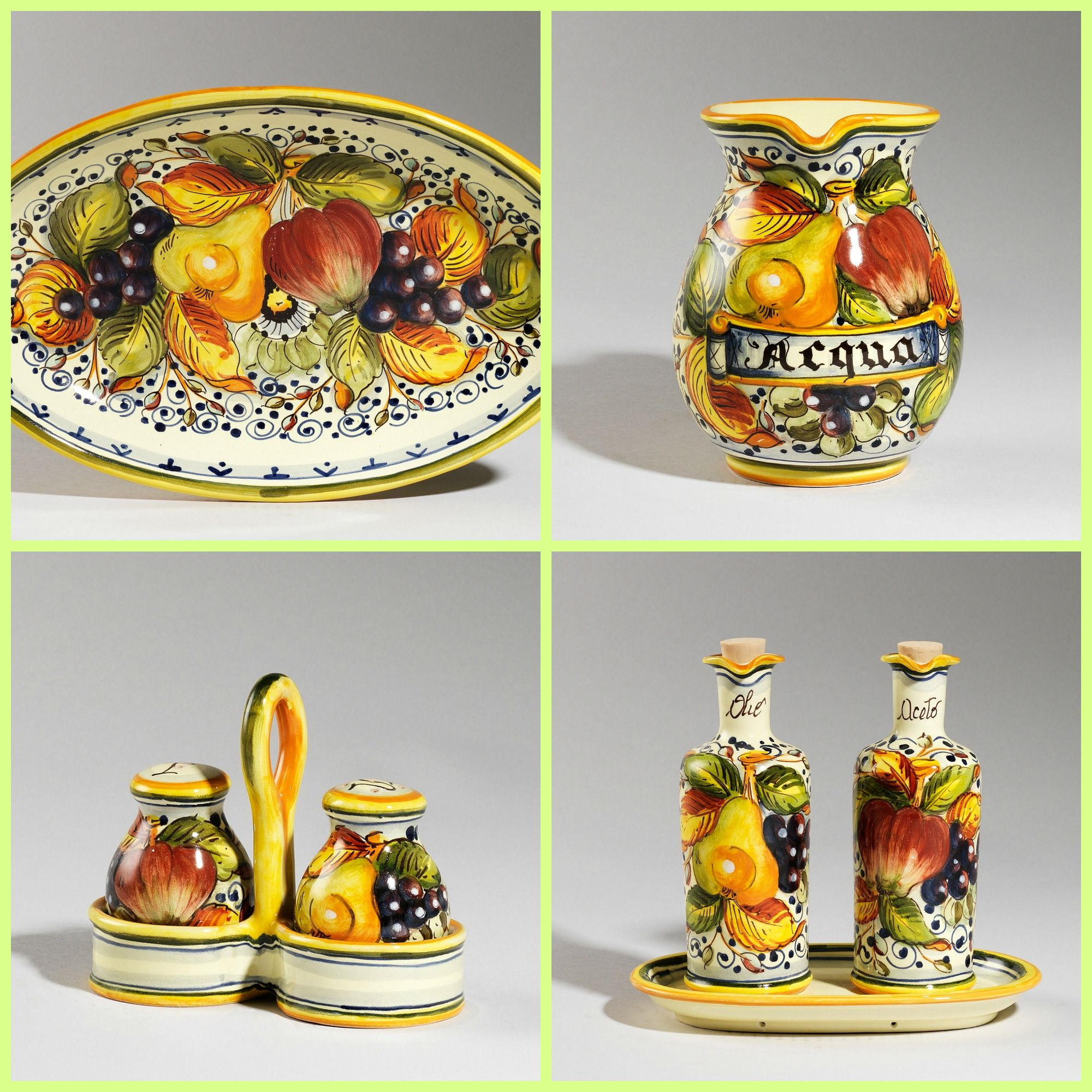 Dress your table with colorful handmade ceramics.  http://www.artshoptuscany.com/