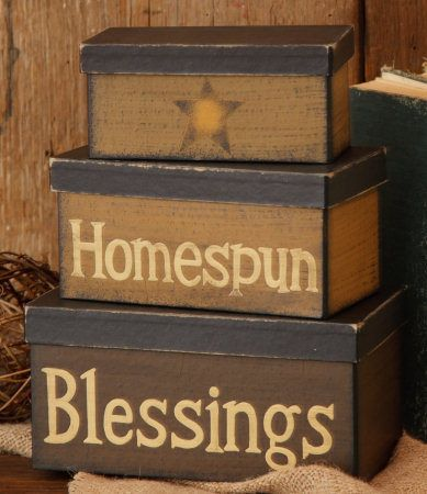 Stacking Boxes  ~from Country Craft House