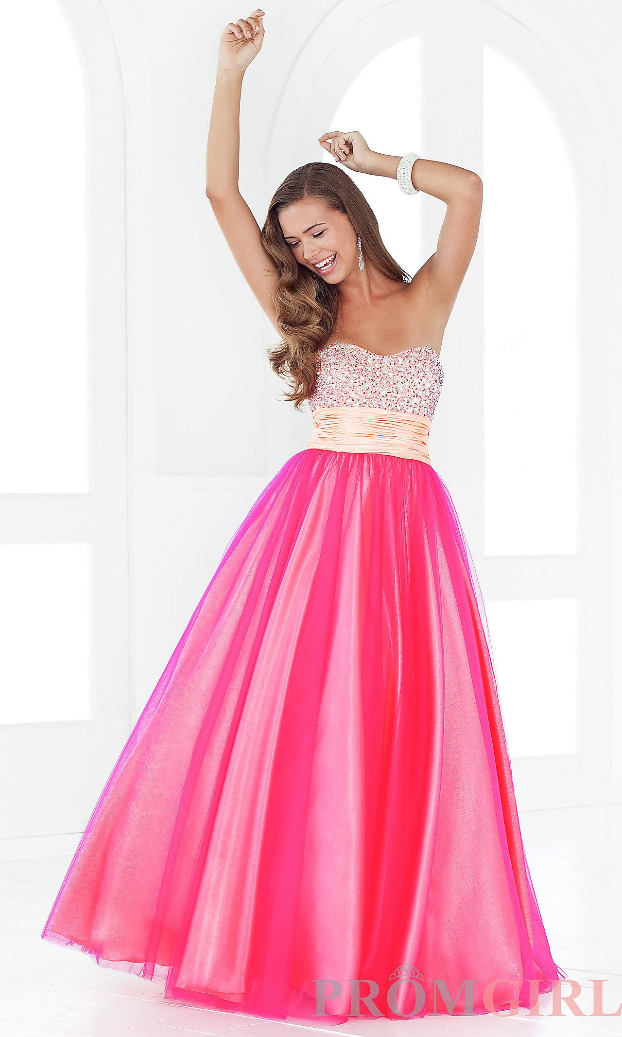 Strapless Ballgown 5131 by Blush BL-5131 | Prom Ideas ♡ | Pinterest