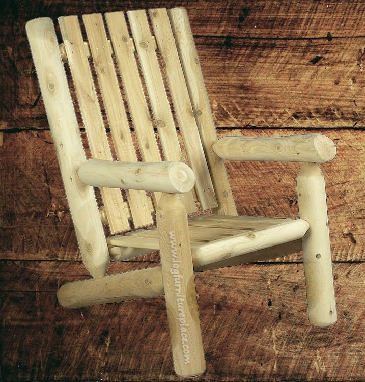 Constructing Log Furniture | You Can Get The Rustic Natural Cedar High Back  Log Arm Chair