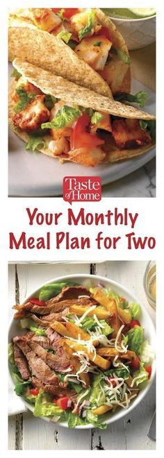 Your Monthly Meal Plan for Two images