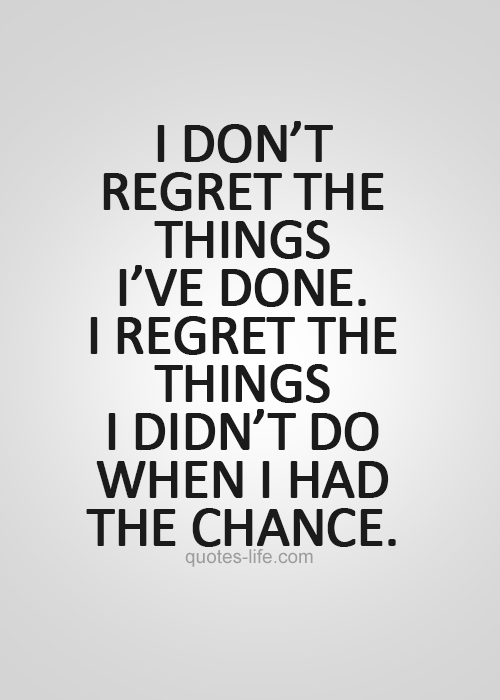 Image result for don't regret after 40