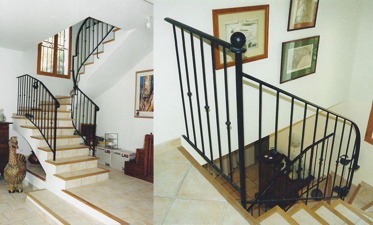 Rampe En Fer Pour Cage DEscalier  Escalier    Rampes