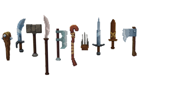 Example of Weapons [Hypixel] Warlords Weapons - Common by