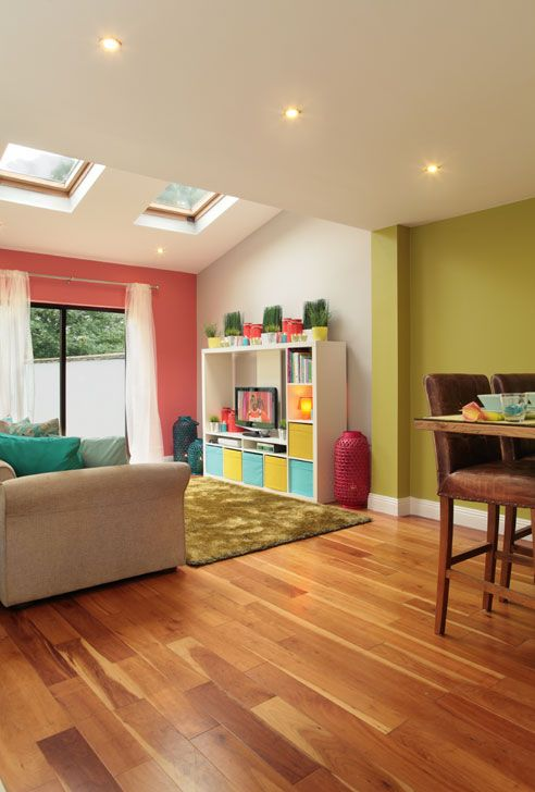 Bright Open Plan Rooms Can Afford To Go Wild With Colour Coral Amazing Bright Colors For Living Room Exterior