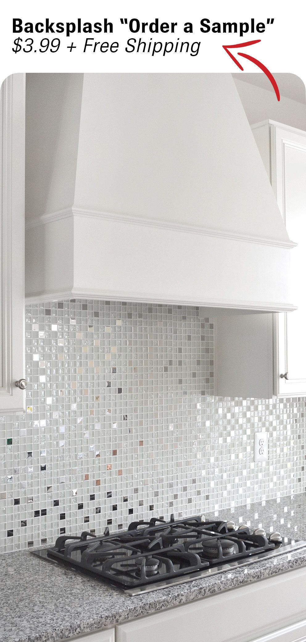 Modern White Glass Metal Kitchen Backsplash Tile Backsplash Com Metal Backsplash Kitchen Modern Kitchen Backsplash Kitchen Backsplash Metal Tiles