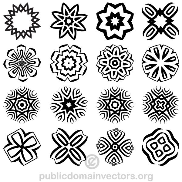 Decorative Geometric Shapes Vector Illustrator Geometric Shapes