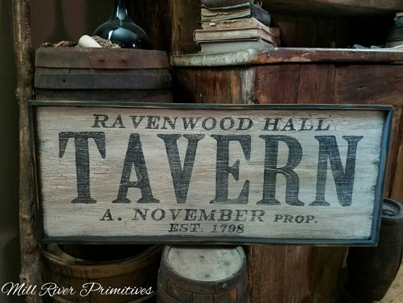 Personalized Early Antique Reproduction Primitive Wooden