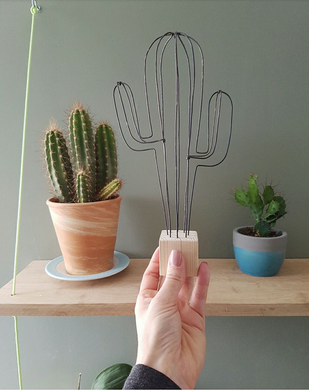 Cactus d coratif en fil de fer version xl wired pinterest fil de fer diy fil de fer - Deco jardin fait main caen ...