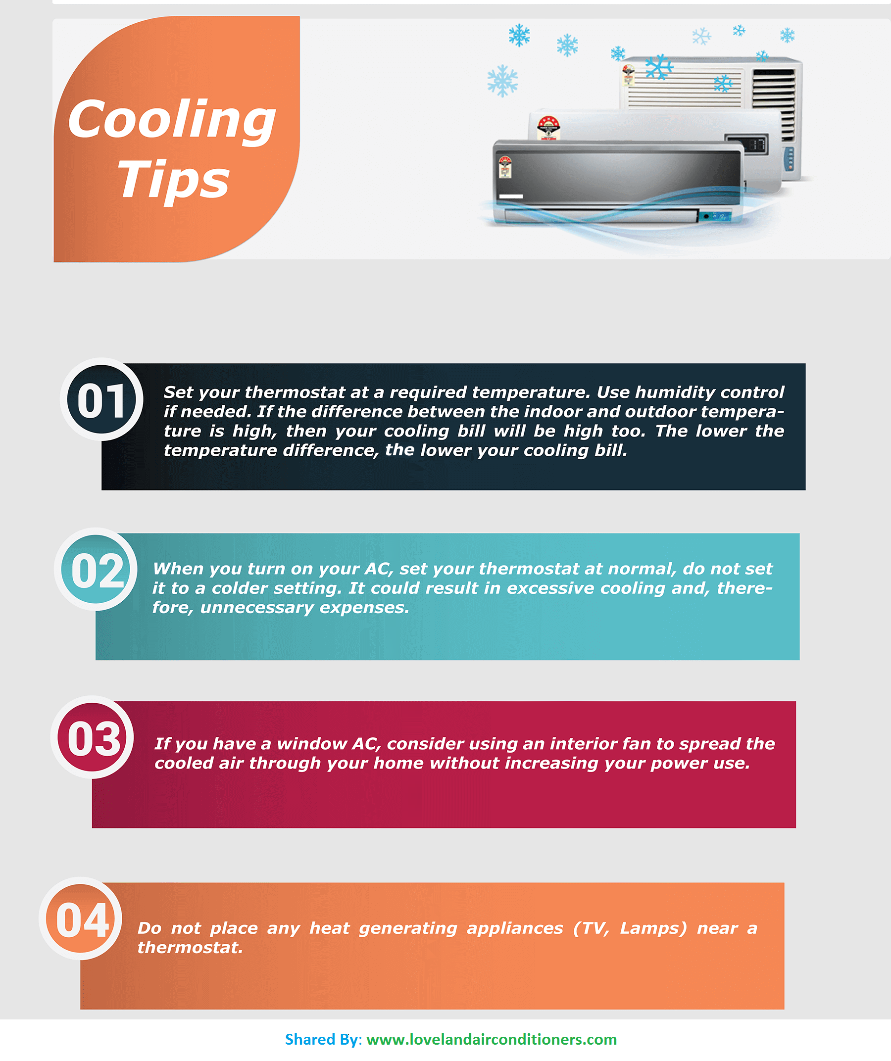 4 Cooling Tips Air conditioning system, Solar energy, Aircon