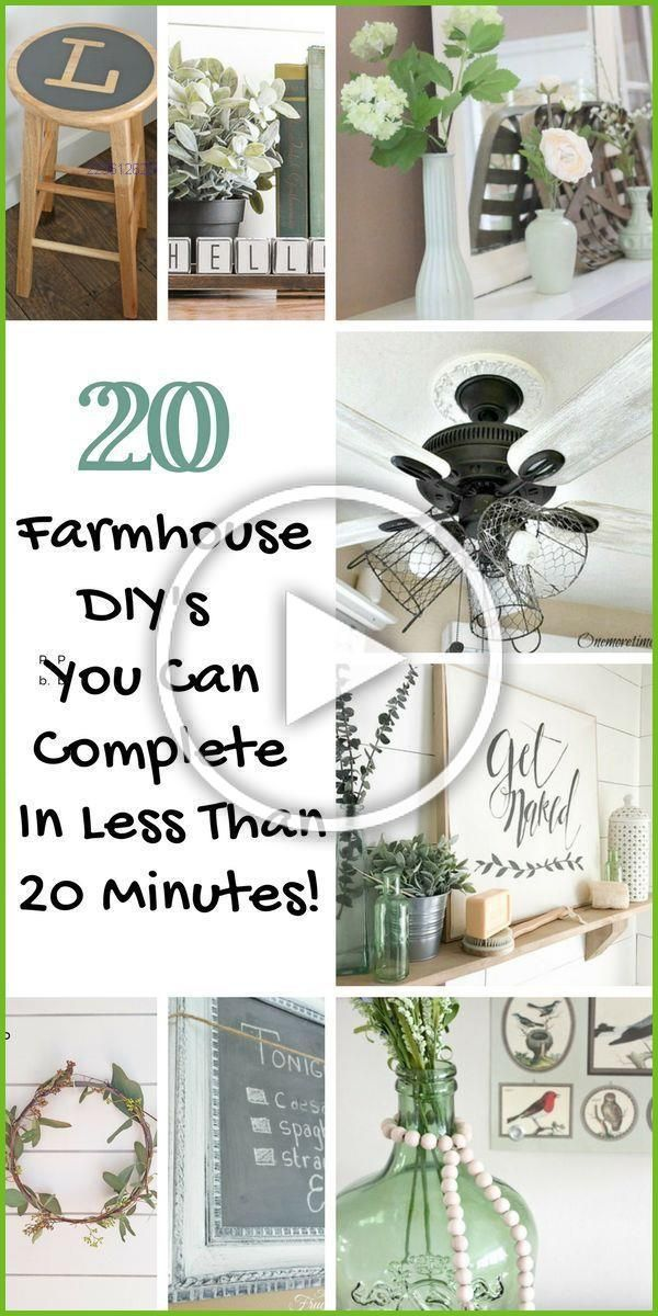 Photo of Looking for quick Farmhouse DIY craft ideas you can make in 20 minutes or less? …