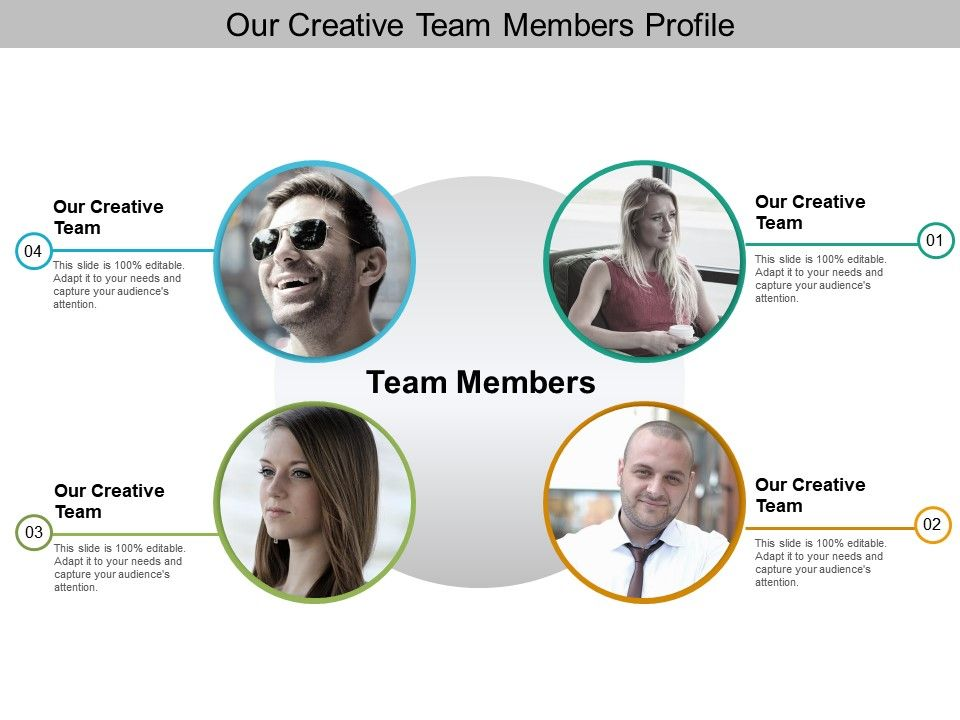 Our Creative Team Members Profile Presentation Powerpoint Templates Ppt Slide Templ Presentation Slides Design Presentation Design Layout Web Banner Design