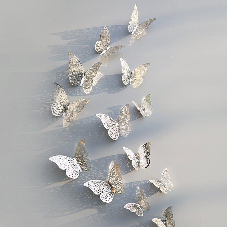 Wonderlijk PVC 3D magneet Butterfly Stickers 12 dlg / Monarchvlinders   Etsy DX-16