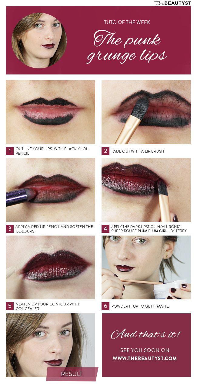 Make up tutorial the punk grunge lips hair and makeup make up tutorial the punk grunge lips girl vampire makeupvampire baditri Image collections