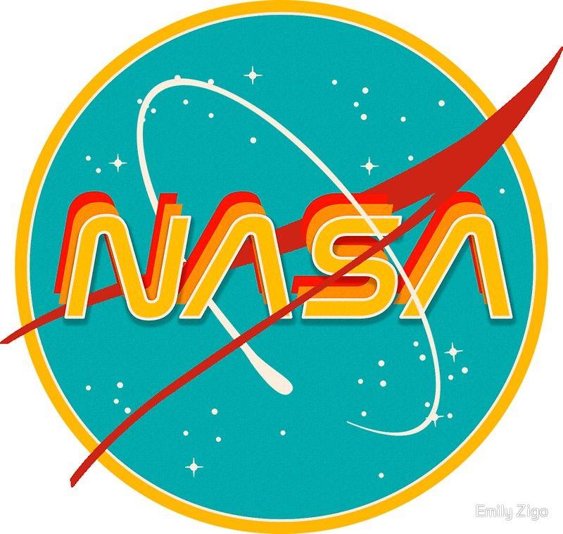 'NASA RETRO' Sticker by Emily Zigo in 2020 Nasa retro