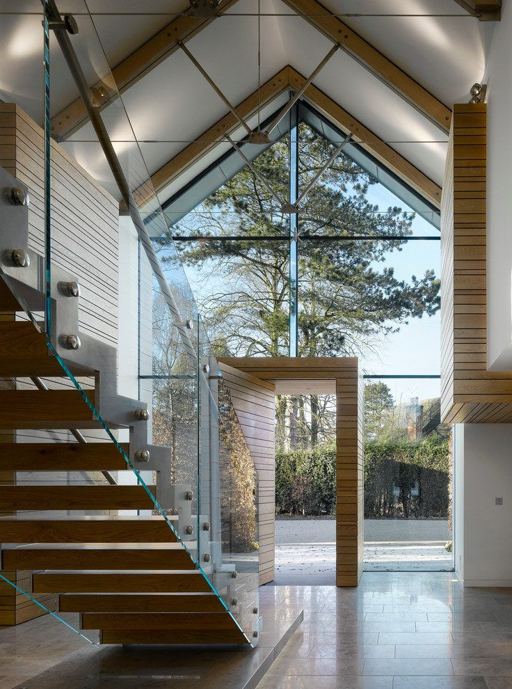 Best Glass Enclosed Staircase Contemporary With Vaulted 400 x 300