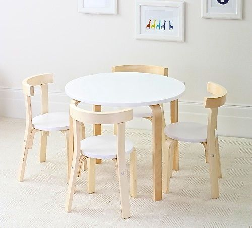 Strange Boston Nat White Table 4 Chairs Set Kids Inzonedesignstudio Interior Chair Design Inzonedesignstudiocom