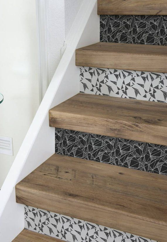 10 Strips Of Stair Riser Triangles Removable Sticker Peel Stick Staircase Decals Removable Star Riser Decals S 21 Treppe Treppe Haus Haus