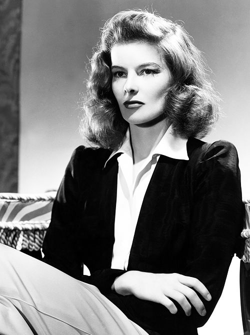 katharine hepburn by clarence sinclair bull 1942 when asked why she took to wearing trousers. Black Bedroom Furniture Sets. Home Design Ideas