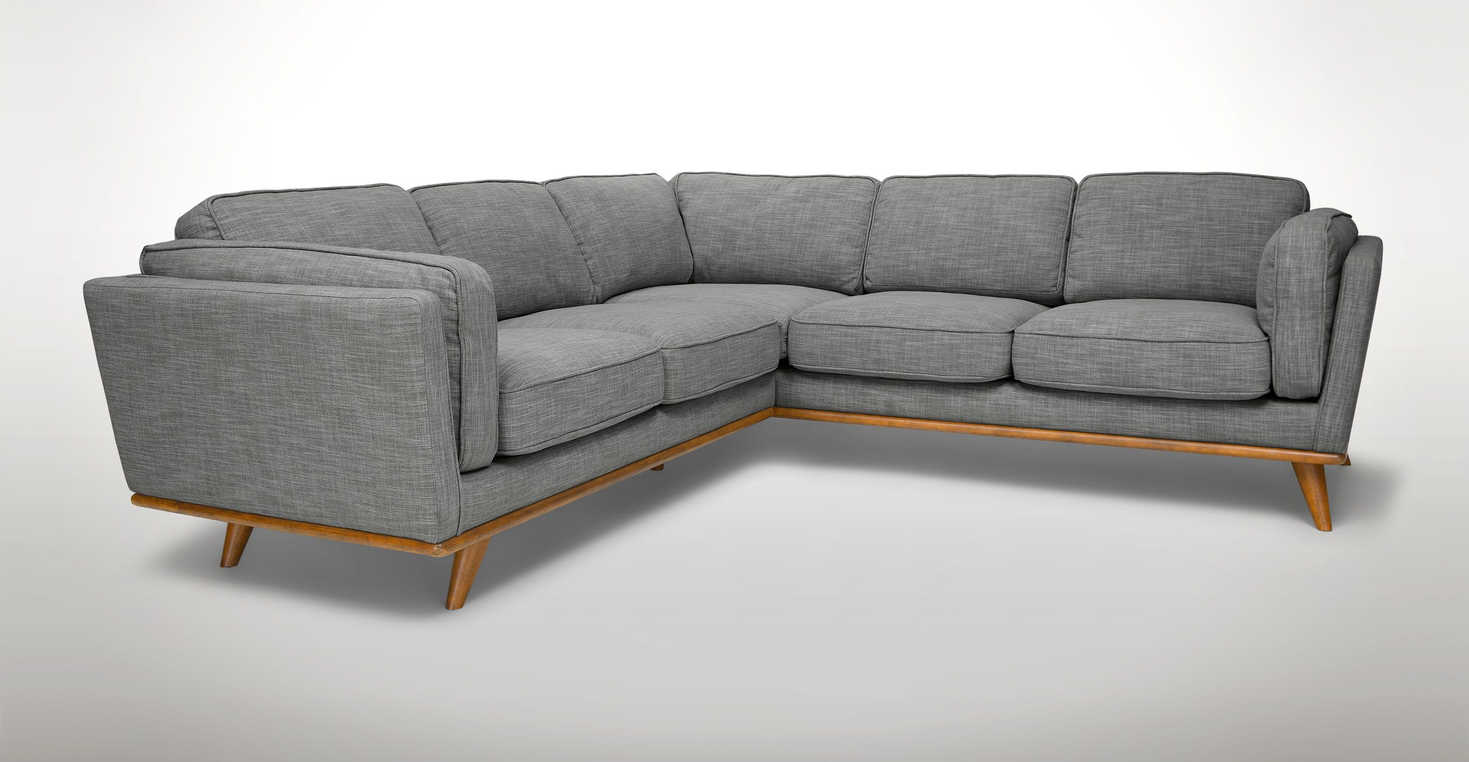 Timber Pebble Gray Corner Sectional Sectionals Article Modern Mid Century And Scandinavian Furniture