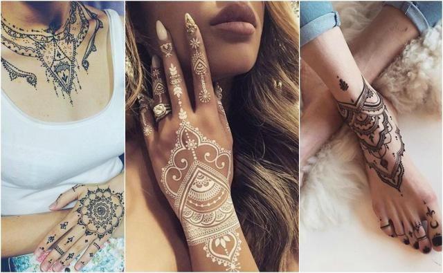 Tatuaże Z Henny Pomysły Na Wzory Tatuaże Henna Tatuaże