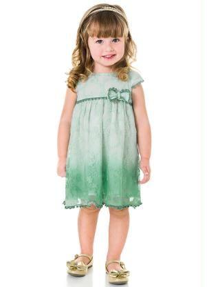 1a4393358 Vestido Infantil Milon Verde - Posthaus