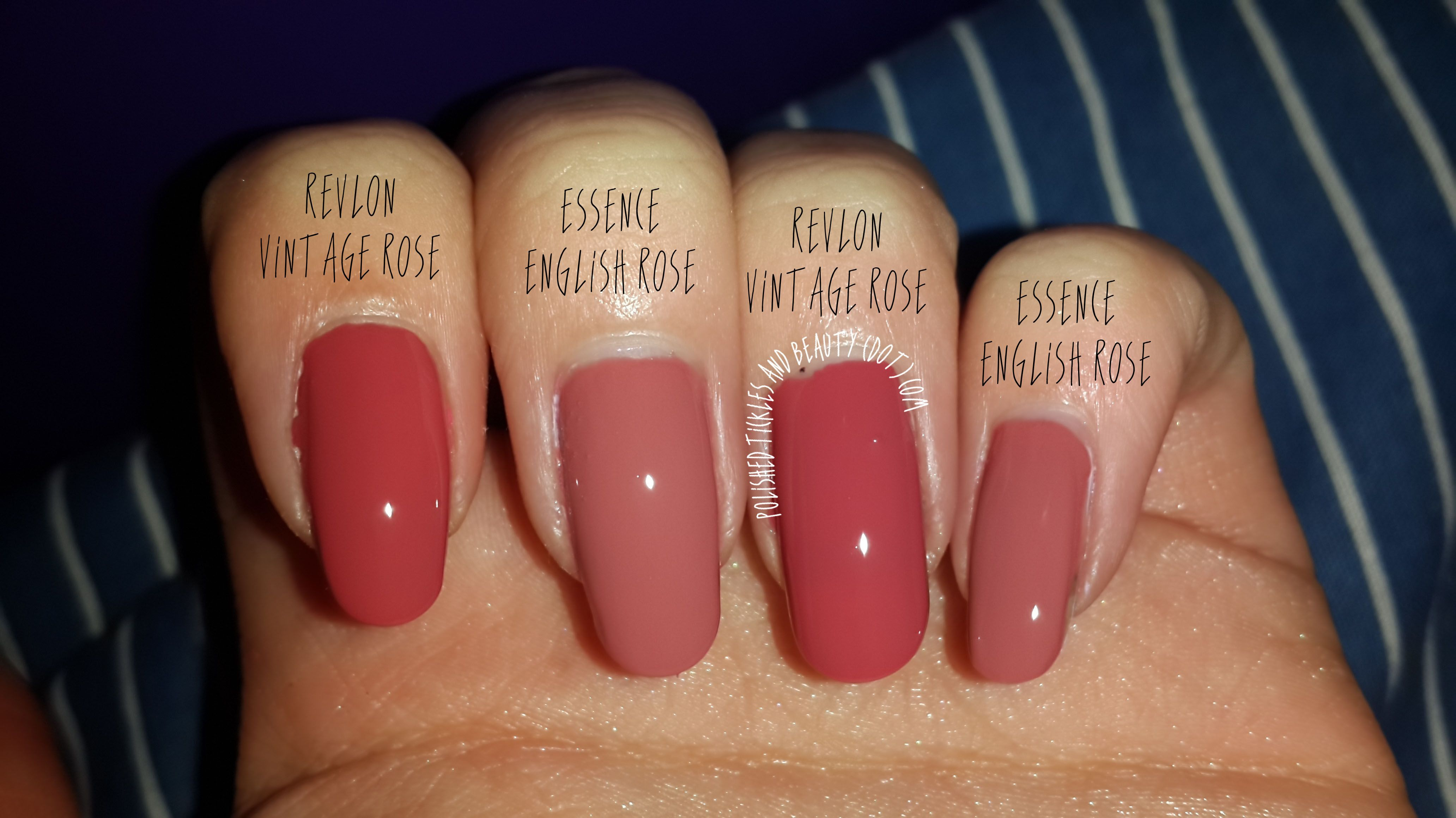 Revlon Vintage Rose Vs Essence English Rose | Nails | Pinterest | Nail Polish Colors