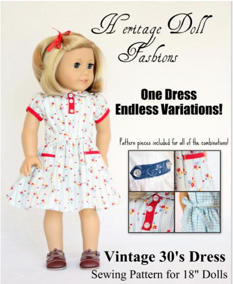 1930\'s Vintage Dress Pattern 18\