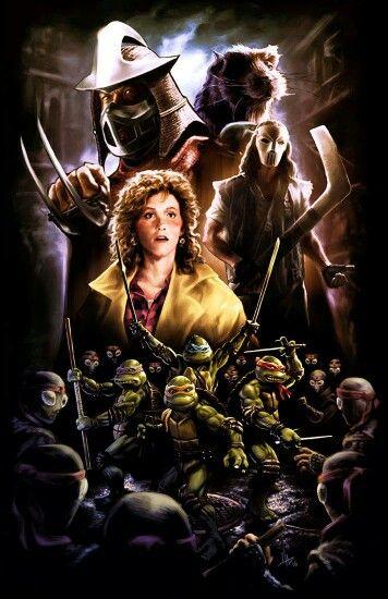 Tmnt 1990 Movie Poster Cartaz De Filme Tartarugas Ninjas Filmes Anos 80