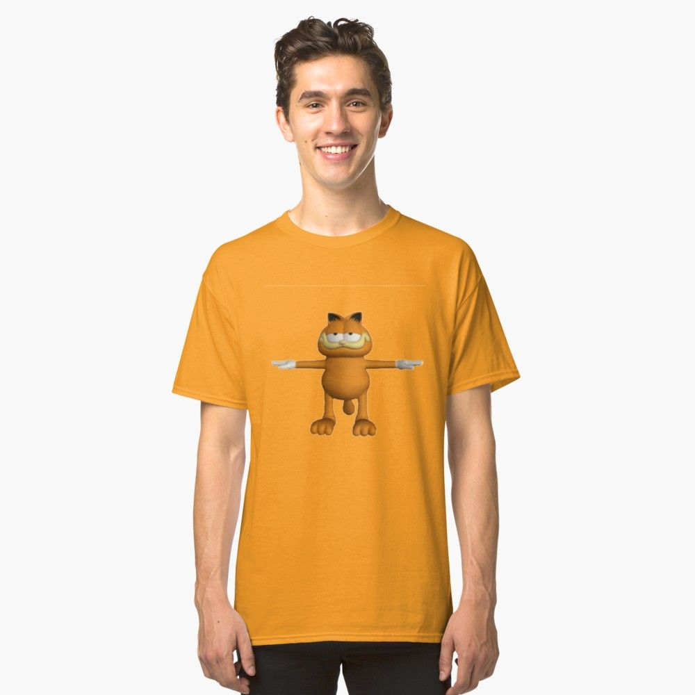 Garfield T Pose Classic T Shirt By Jakeebler Classic T Shirts T Shirt Mens Tops