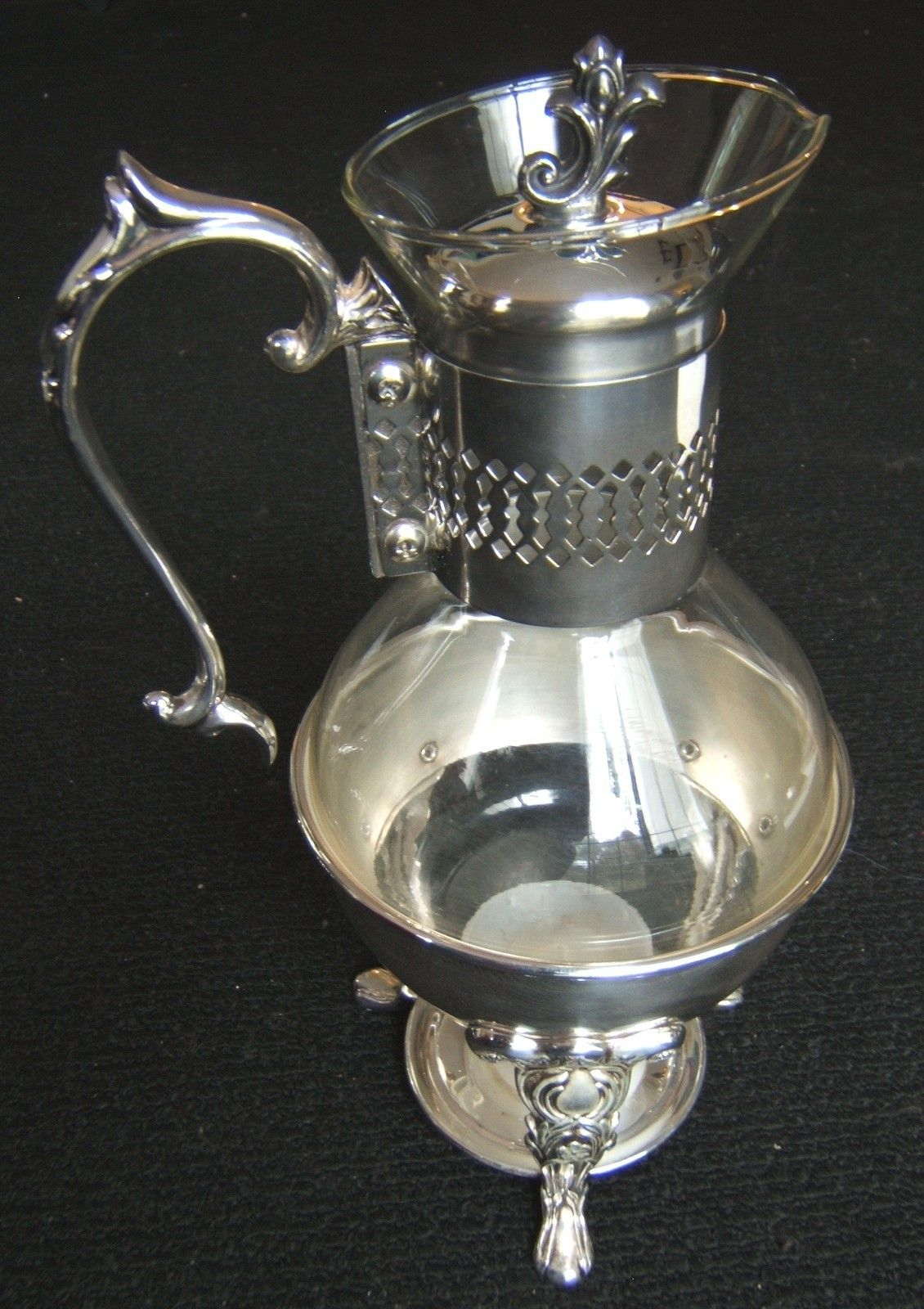 Antique 60\'s Silver Plated Carafe Coffee Tea Warmer Gently Used and ...