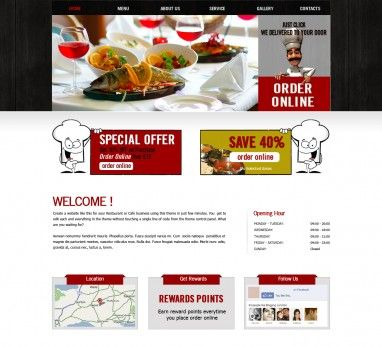 Template 7 - Indian Restaurant & Takeaway Website Template ...