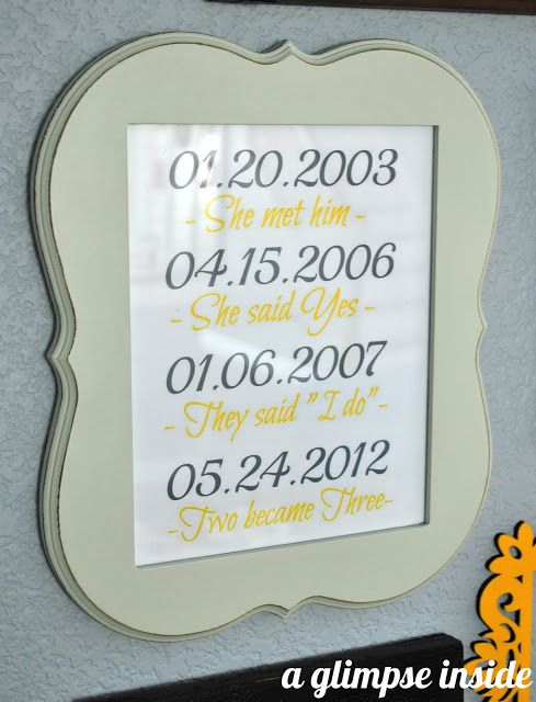 A Glimpse Inside: Special Dates Printable