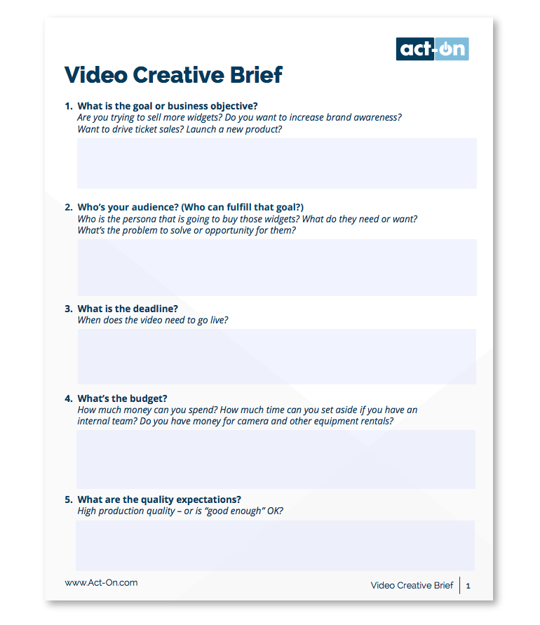 The Best Way To Write A Creative Brief With Helpful Templates Creative Brief Template Brief Templates