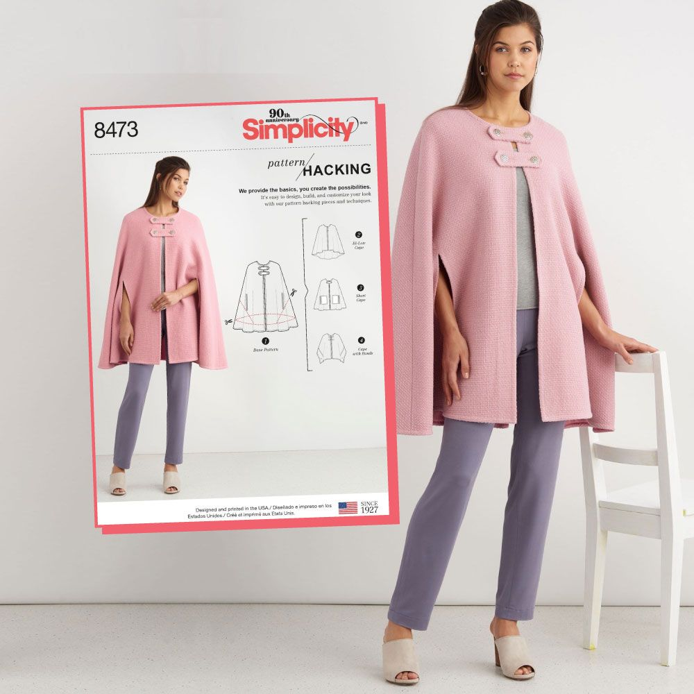 3abe2eba3c Simplicity Sewing Pattern S8473 Misses' Capes with Options for Design  Hacking …