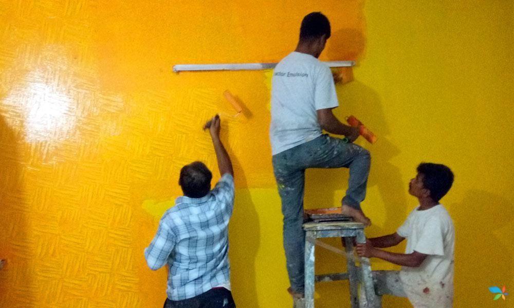 Neu Range Yellow Royale Play Interior Painting Asian Paints Wall Designs Wall Paint Designs Wall Texture Design