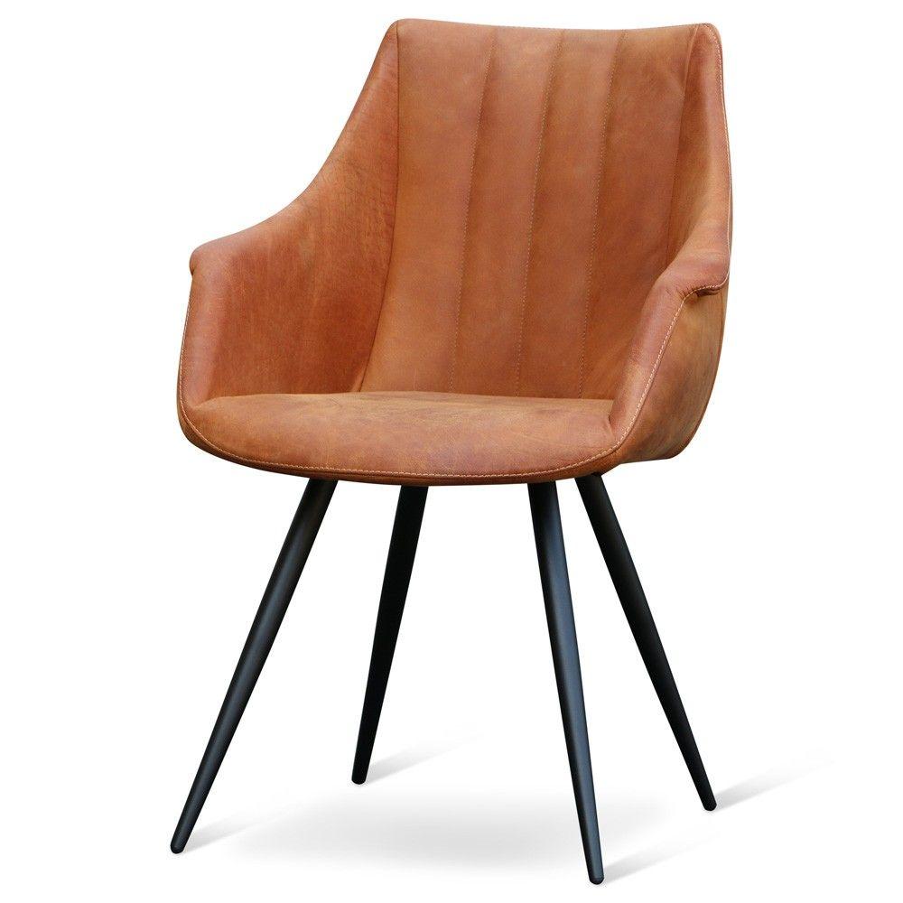 Leren Vintage Eetkamerstoel Elly  Design meubelen en de