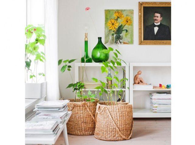 Plante Panier Suspendu : Paniers osier deco panier et vases