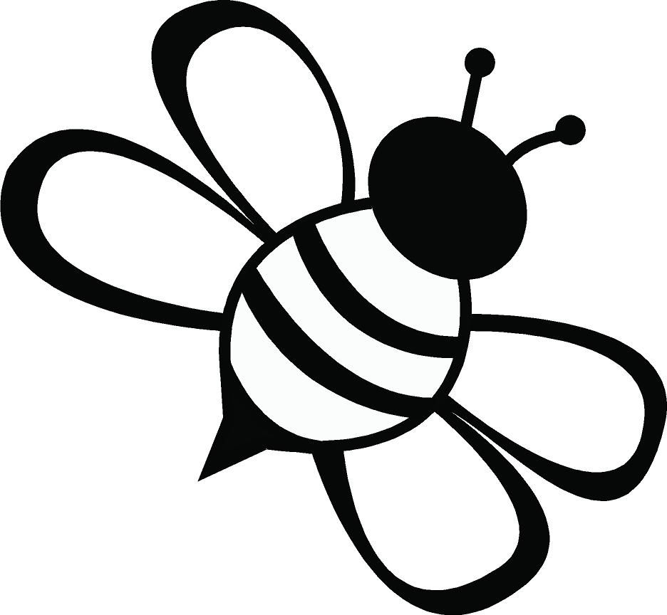 hight resolution of line drawing simple bee clipart best cliparts co