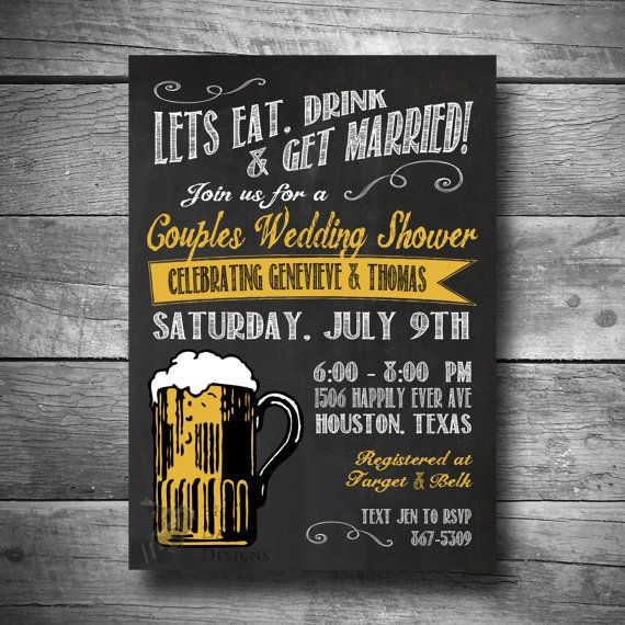 Engagement Shower Invitation Couples Wedding Shower Invite Eat
