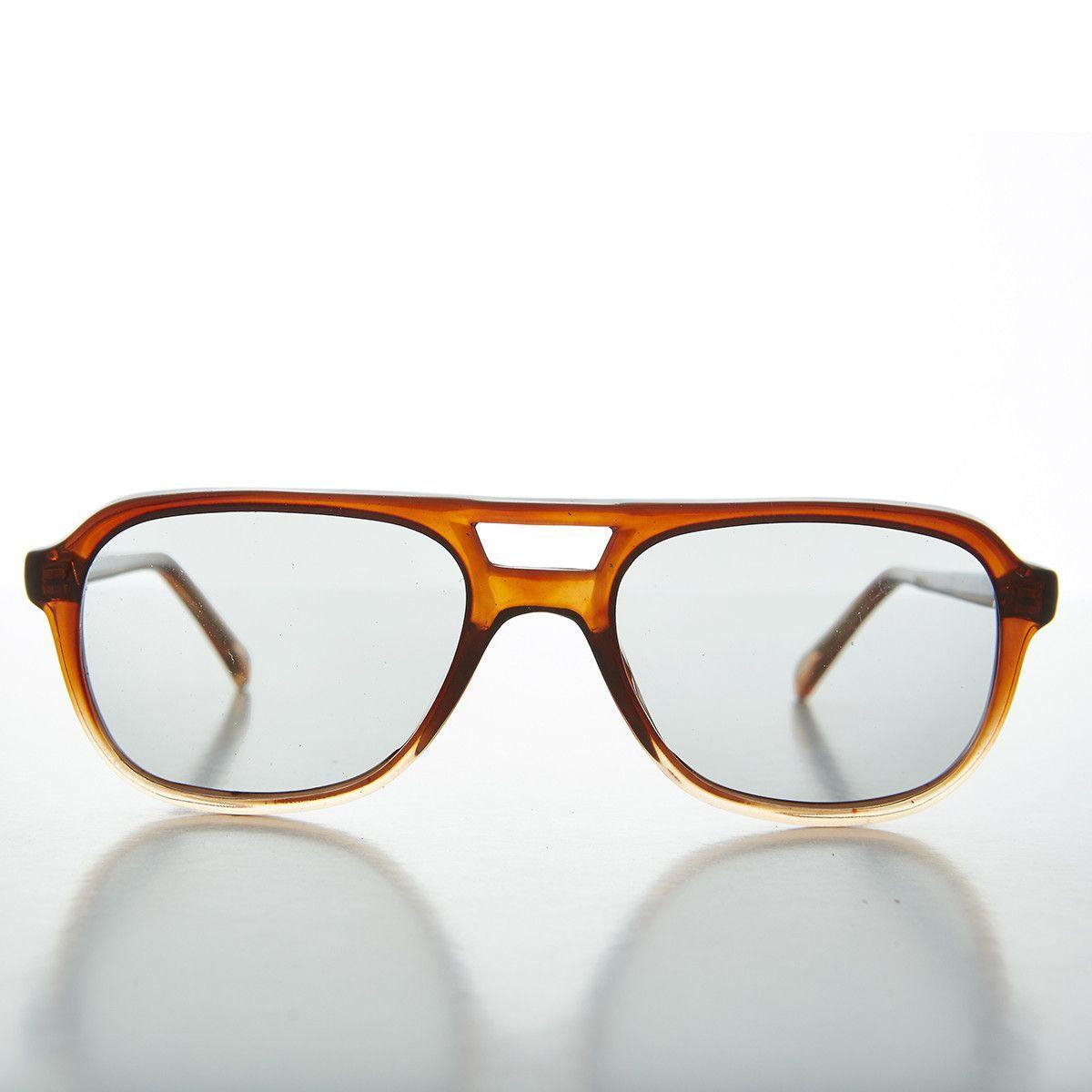 Eyeglasses dallas - Small Square Vintage Aviator Sunglass With Transition Corning Lens Dallas