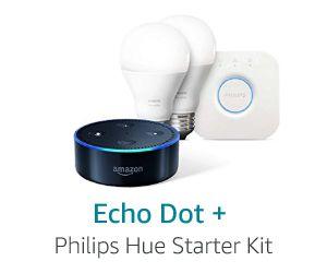 Echo Dot Philips Hue Starter Kit Hue Philips Philips Hue Starter Kit Echo Dot