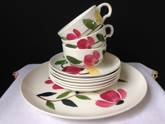 Stetson Rio Hand Painted Plates Cups and Saucers 10 by nddevens