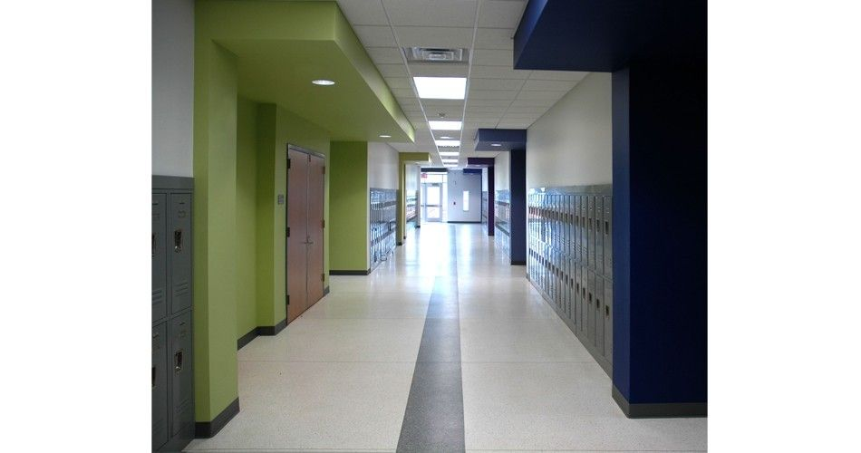 Interior hallway - West University Elementary School ...