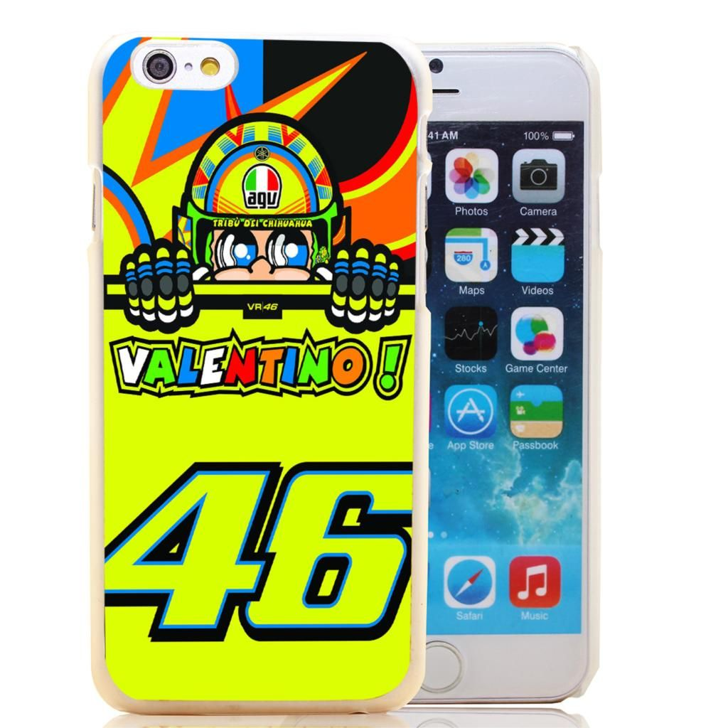Vr46 iphone wallpaper - 1755 Hoqe Toalla Valentino Rossi Vr46 46 Transparent Hard Case Cover For Iphone 6 6s